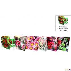 Torebka laminowana duża horyzontalna (12) kwiaty 45x33x10       ROZETTE