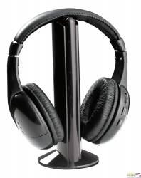 Słuchawki  bezprzewodowe z radiem FM LIBERTY czarne TH110 TITANUM