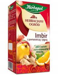 Herbata HERBAPOL OGRÓD IMBIR Z POMARAŃCZĄ I PIGWĄ 20tb