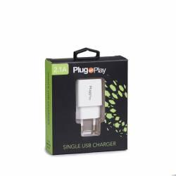 Ładowarka sieciowa 2.4A z 2 portami  USB Plug&Play PP-WC2.4USB2