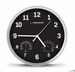 Zegar ścienny LYON_czarny EHC016K ESPERANZA