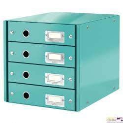 Pojemnik z 4 szufladamiC&S WOW, turkusowy 60490051 LEITZ