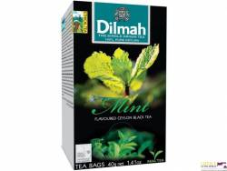 Herbata DILMAH aromat mięta 20 saszetek, czarna
