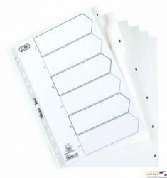 Przekładki numeryczne ELBA A4 1-6 białe PP 100204806