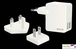 Ładowarka sieciowa LEITZ Complete z 2 portami USB 12-watowa 65200001