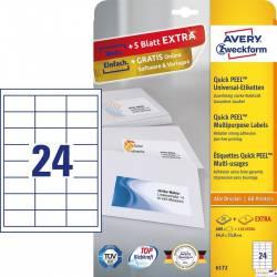 Etykiety ZF A4 646x338mm białe 6172 AVERY ZWECKFORM (30 arkuszy)