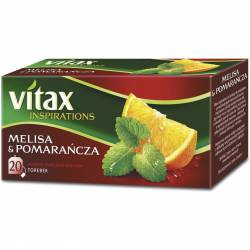 Herbata Vitax INSPIRATIONS Melisa i pomarańcza (20 saszetek) 33g zawieszka