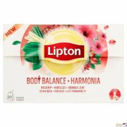 Herbata LIPTON HARMONIA (20 saszetek) dzika róża, hibiskus, liść pomarańczy