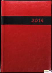 Kalendarz A5 STANDARD książkowy (KS1), 09 - grafit nubuk / wstawka 140 x 200 mm TELEGRAPH