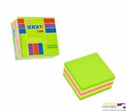 "Bloczek STICK""N 51x51mm zielony-mix neon i pastel 21534"