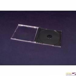 Pudełko na 1 CD czarne grube 3015