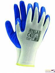 Rękawice powlekane biało-niebieski rozmiar 9 RTELA