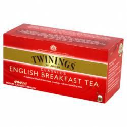 Herbata czarna Twinings Classics English Breakfast 50 g, 25 torebek z zawieszką
