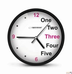 Zegar ścienny PRAGUE czarny EHC014K ESPERANZA