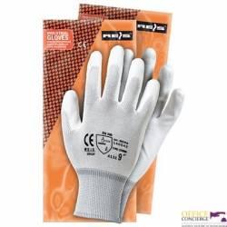 Rękawice powlekane białe Rozmiar 8 RNYPO