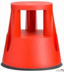 Taboret biurowy TWIN LIFT dwustopniowy czerwony 6000-4 TWINCO