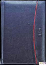Kalendarz A5 LUX książkowy (L3), 11 - grafit melange / wstawka 140 x 200 mm TELEGRAPH