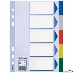 Przekładki plastikowe z PP A5 ESSELTE 5 kart 15264