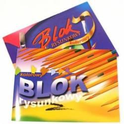 Blok rys.A4/16k z kolor.kartka
