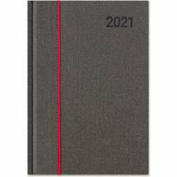 Kalendarz A4 CLASSIC książkowy (C1), 22 - szara juta / kapitałka 205 x 285 mm TELEGRAPH
