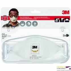 Półmaska filtrująca przeciw pyłom,mgłom(2)3M z zaworem9322+FFP2 XA004838828