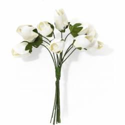 Kwiaty papierowe TULIPANY bukiet biały (10) 252000 Galeria Papieru