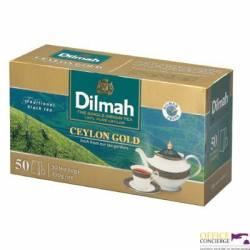 Herbata DILMAH Ceylon Gold czarna, 50 torebek 2g