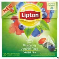 Herbata LIPTON PIRAMID zielona jagody goi, 20 saszetek