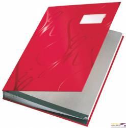Książka do podpisu LEITZ czerwony 18 przegródek 57450025