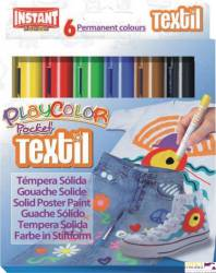 Farby w sztyfcie PLAYCOLOR TEXTIL POCKET 6kol 10501
