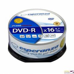DVD-R ESPERANZA 4,7GB x16 - Cake Box 25 1110