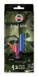 Kredki 12kol DINO   3652/3582/3592 KOH-I-NOOR