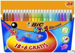 Flamastry BIC Kid Couleur 18+6 kolorów 841803