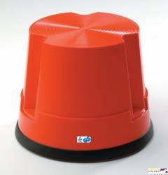 Taboret biurowy TWIN EASY STOP czerwony 6200-4 TWINCO