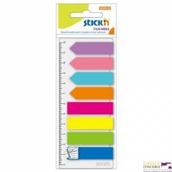 """Zakładki indeksujące neon 8x25szt.(Paski+Strzałki) +Linijka STICK""""N 21346"""