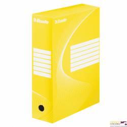 Pudełka archiwizacyjne ESSELTE BOXY 100mm żółte 128423