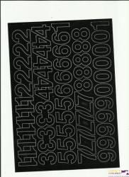 LITERY samop. 3cm (8) czerwone ARTDRUK