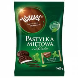 Cukierki WAWEL pastylka miętowa w czekoladzie 1kg