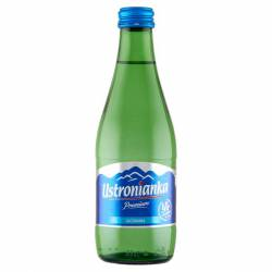 Woda mineralna Ustronianka poj. 0,33 litra (12 szt) w szklanej butelce, gazowana