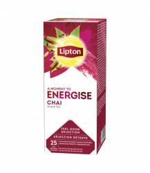 Herbata LIPTON CLASSIC CHAI czarna 25 kopert, wzbogacona smakiem cynamonu, goździków i kardamonu