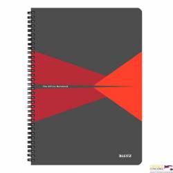 Kołonotatnik OFFICE A4 kratka czerwony 46470025 LEITZ