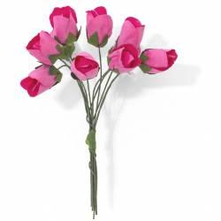 Kwiaty papierowe TULIPANY bukiet różowe (10) 252001 Galeria Papieru