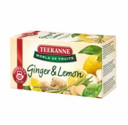 Herbata owocowa Teekanne Ginger & Lemon (cytryna z imbirem), 20 torebek