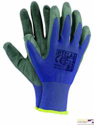 Rękawice powlekane niebiesko-szary rozmiar 7 RTELA