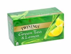 Herbata Twinings zielona o smaku cytrynowym 50 g, 25 torebek z zawieszką