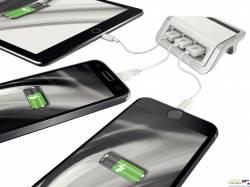 Ładowarka LEITZ STYLE na 3 porty USB biała 62070004