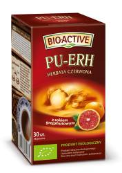 Herbata Big-Active Pu-erh z sokiem z grejpfruta 20 torebek, czerwona