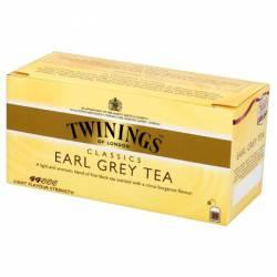 Herbata czarna Twinings Classics Earl Grey 50 g, 25 torebek z zawieszką
