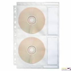 Koszulki na płyty CD z PP 200mic. przezroczyste ESSELTE 67668