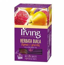 Herbata biała Irving figowa z gruszką, 20 torebek w kopertach